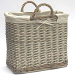 Country Willow Magazine Storage Basket