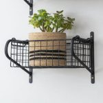HBBL01 Slim Black Wire Basket Shelf close