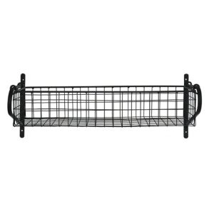 HBBL02 Black Wire Basket Wall Shelf a