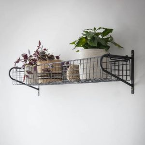 HBBL03 Large Black Wire Basket Shelf