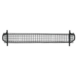HBBL03 Large Black Wire Basket Shelf a