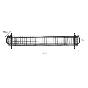 HBBL03 Large Black Wire Basket Shelf b