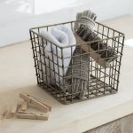 UBAB01 Antique Brass Wire Storage Basket