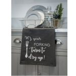 18SS202 It's Your Forking Grey Tea Towel