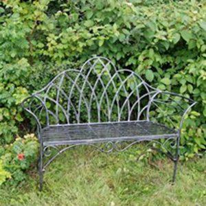 4141 Edwardian Style Grey Garden Bench