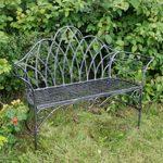 4141a Edwardian Style Grey Garden Bench