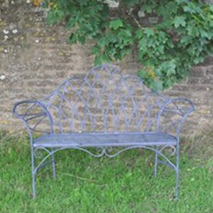 4141b Edwardian Style Grey Garden Bench