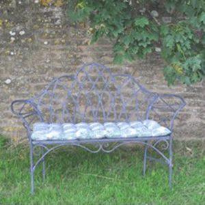 4141c Edwardian Style Grey Garden Bench