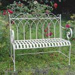 4412 Gothic Style Cream Garden Bench