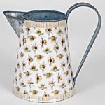 4550 Bee White Yellow Grey Striped Jug