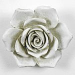5759 Distressed White Rose Wall Decoration
