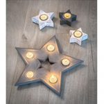 16SS03 c Grey Star Multi Tea Light Hldr