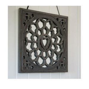 17AW105 a Decorative Grey Heart Wall Mirror