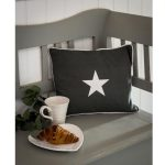 17AW37 Grey Silver Star Rectangle Cushion