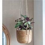 HPRA01 Hand Made Rattan Hanging Plant Pot