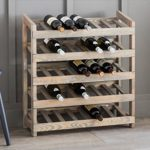 AWWR01 Rustic Wooden 35 Bottle Wine Rack a