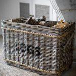 BARA08 Classic Rattan Rope Log Basket
