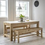 BVPI02 Rustic Dining Table & 2 Benches