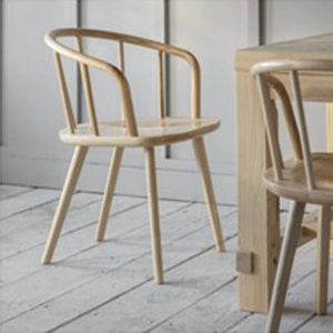CCAS02 a pair of carver chairs in ash