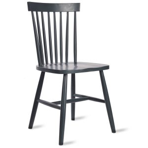 CHBE02_Pair Dark Grey Spindle Back Chairs