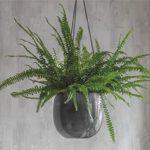 FPAP01 Large Grey Hanging Plant Pot