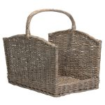 LG040 Large Grey Willow Log Basket