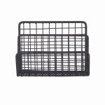 FDST02 Black Wirework Desk Letter Rack