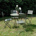1031 Antique Blue Table & 5 Chairs Bistro Set