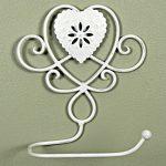 3024 Ornate Heart Ivory Toilet Roll Holder