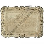 3804 Large Distressed Wooden Serving Tray