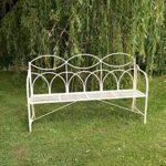 4149 Cream Triple Seat Garden Bench