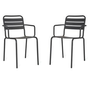 Pair Grey Indoor Outdoor Chairs
