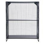 Charcoal Grey Wire Storage Unit