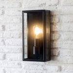 LACN07 Belgrave Outdoor Lantern Tall in Carbon - Steel